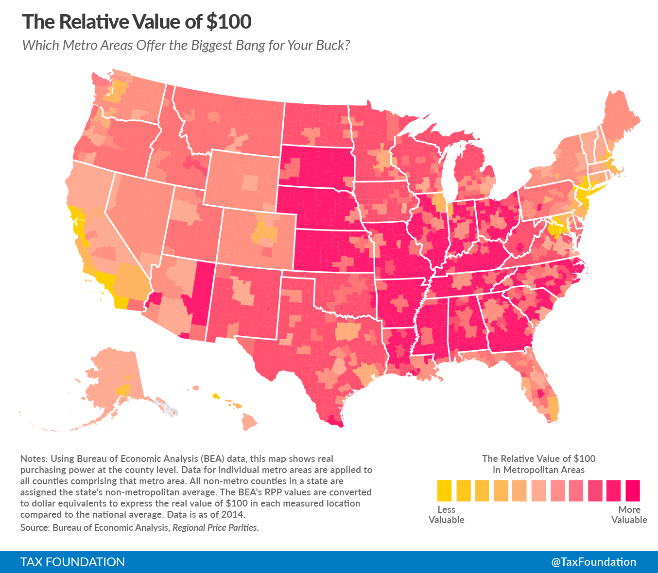 The Real Value of 100 in Metropolitan Areas Tax Foundation