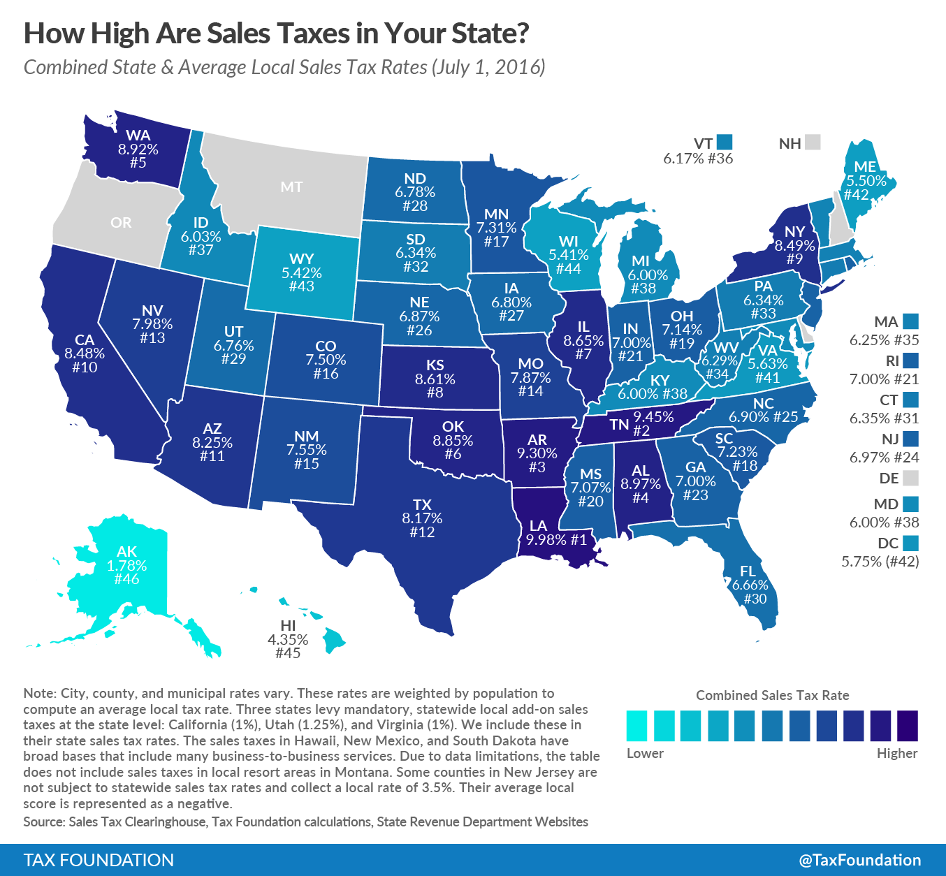 How High Are Sales Taxes In Your State?