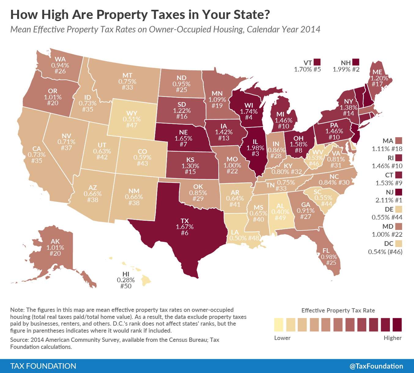 Colorado Income Tax Rate: How High Are Property Taxes In Your State? (2016)