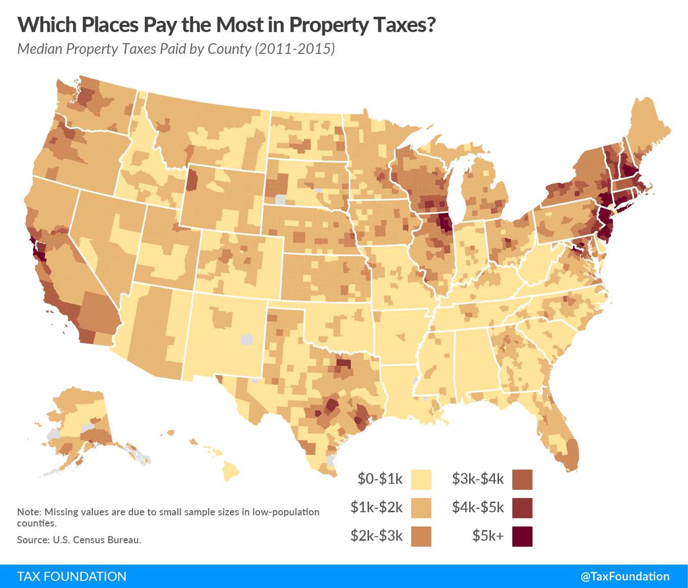 Which Places Pay the Most in Property Taxes? - Tax Foundation