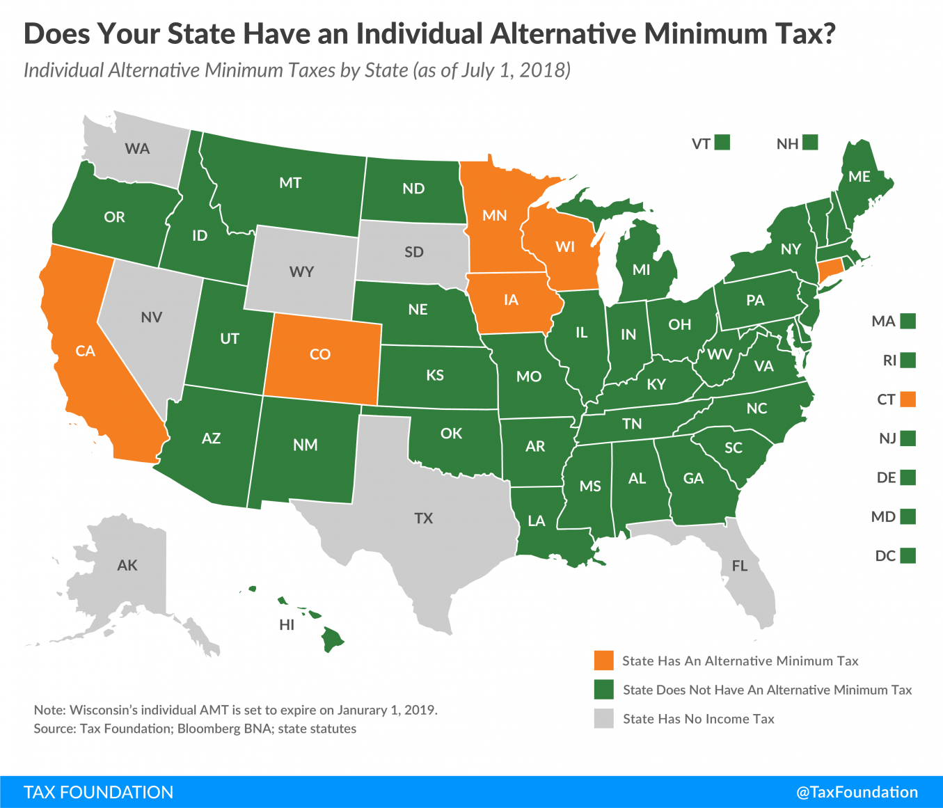 Does Your State Have an Individual Alternative Minimum Tax?