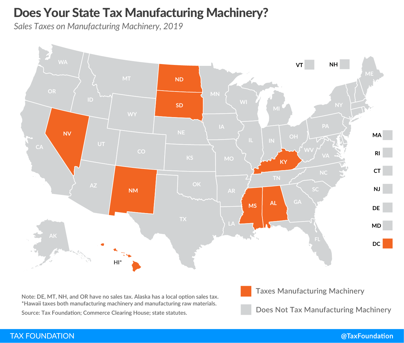 Does your state tax manufacturing machinery? Manufacturing tax business tax