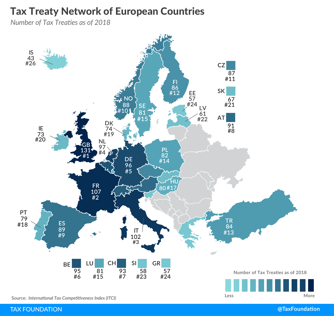European tax treaty 2019 tax treaty network of european countries 2019
