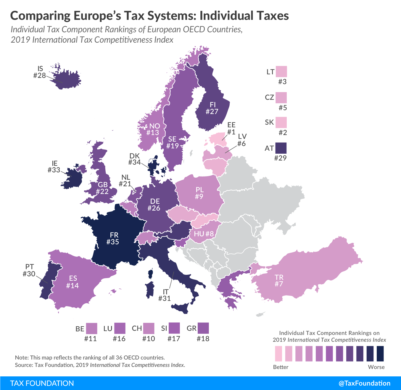 worst personal income tax systems in Europe, best personal income tax systems in Europe, best personal income tax systems in the OECD,worst personal income tax systems in the OECD