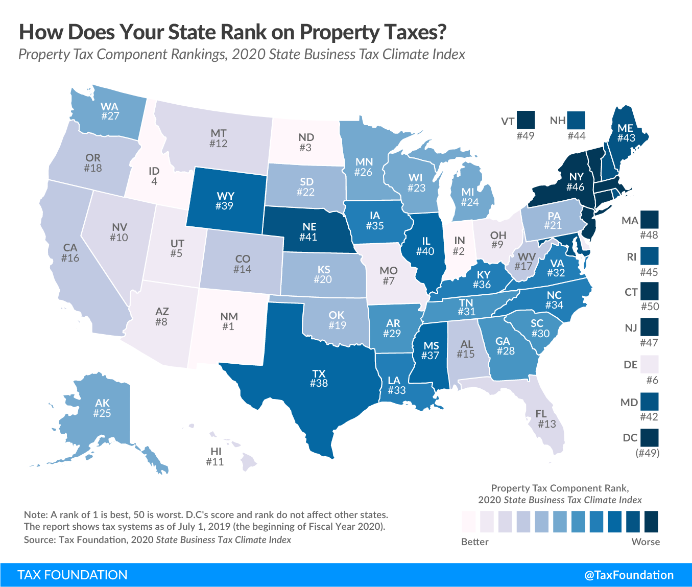 Best and worst property tax codes in the country. See full state property tax code rankings in 2019.