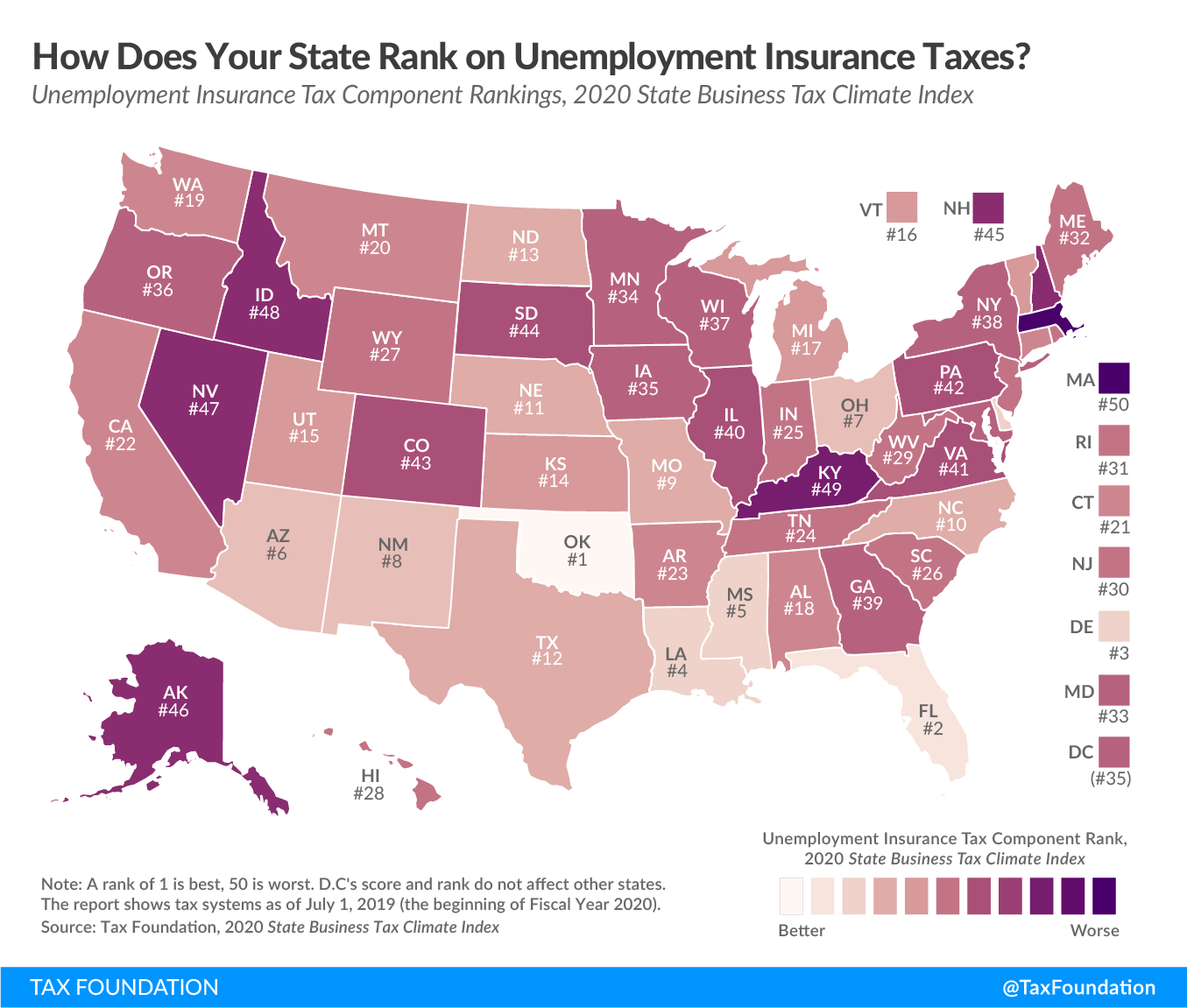 Best and worst unemployment insurance tax codes in the country. See full state unemployment insurance tax code rankings in 2019.