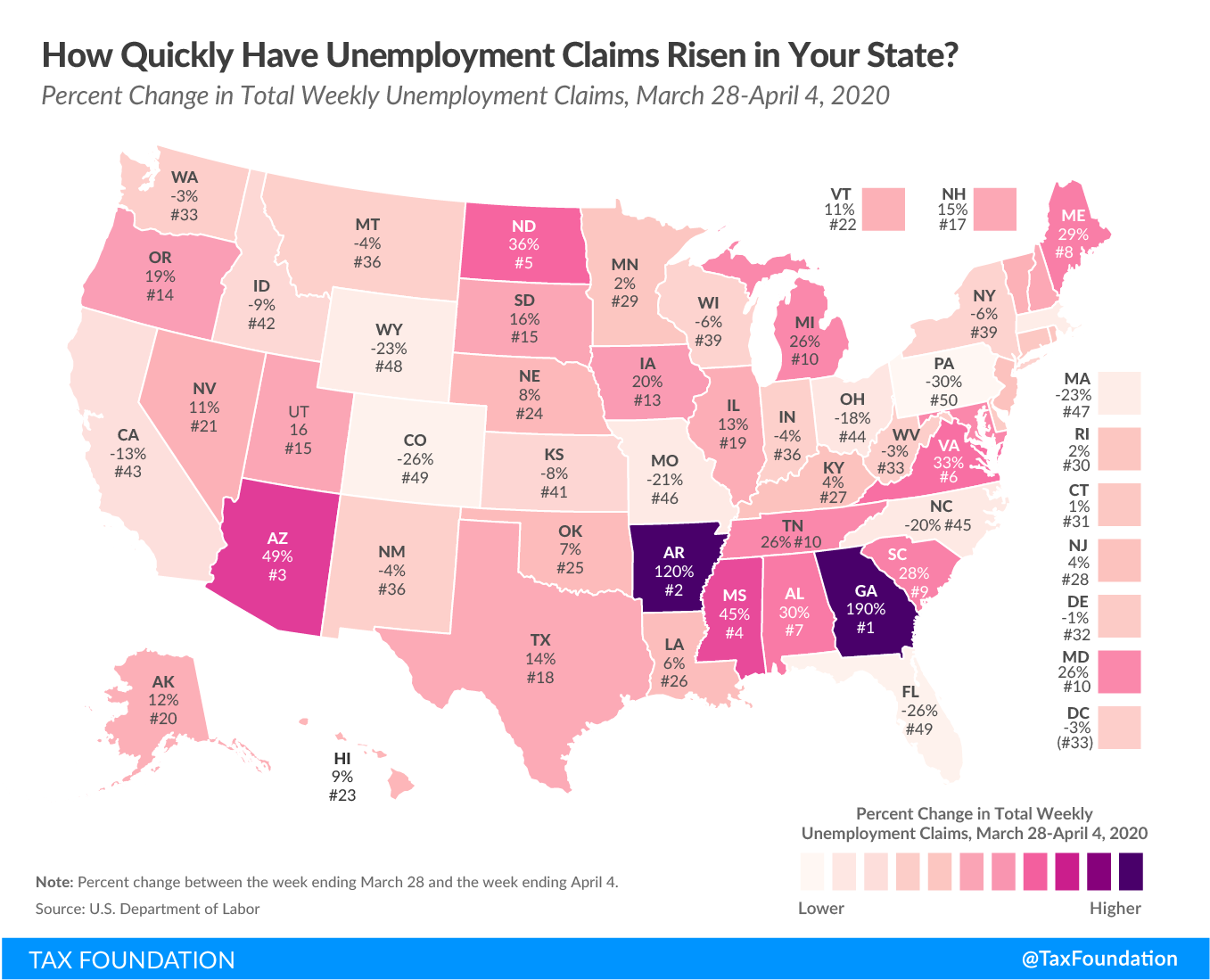 How Quickly Have Unemployment Claims Risen in Your State? Unemployment insurance claims, increase in unemployment claims, increase in unemployment insurance claims