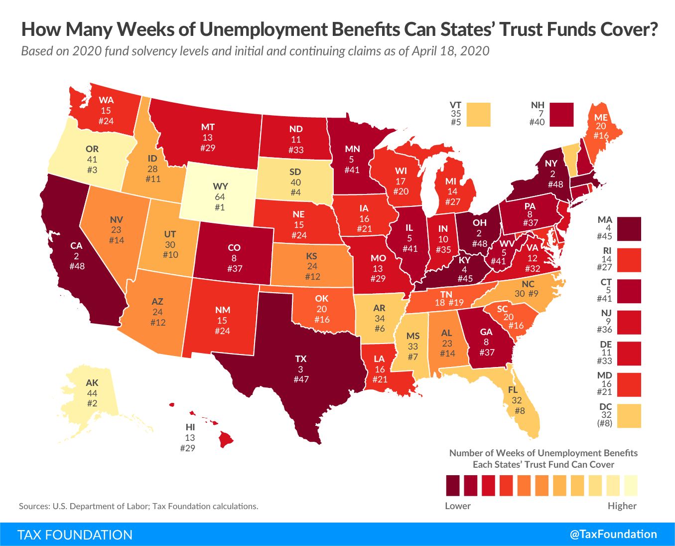 How many weeks of unemployment benefits can states' trust funds cover? State jobless claims, US jobless claims, us unemployment rate