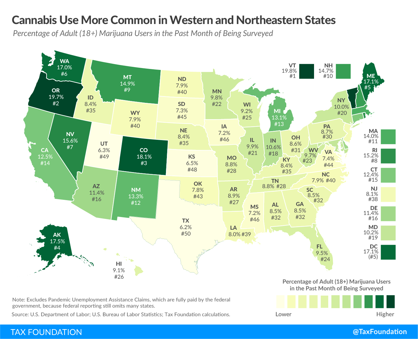 cannabis use more common in western and northeastern states, recreational marijuana tax, recreational marijuana taxation