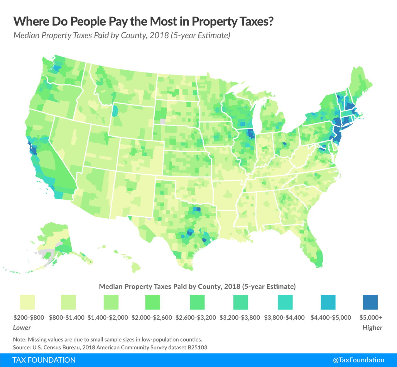 states with the higest property taxes, where do people pay the most in property taxes in the united states
