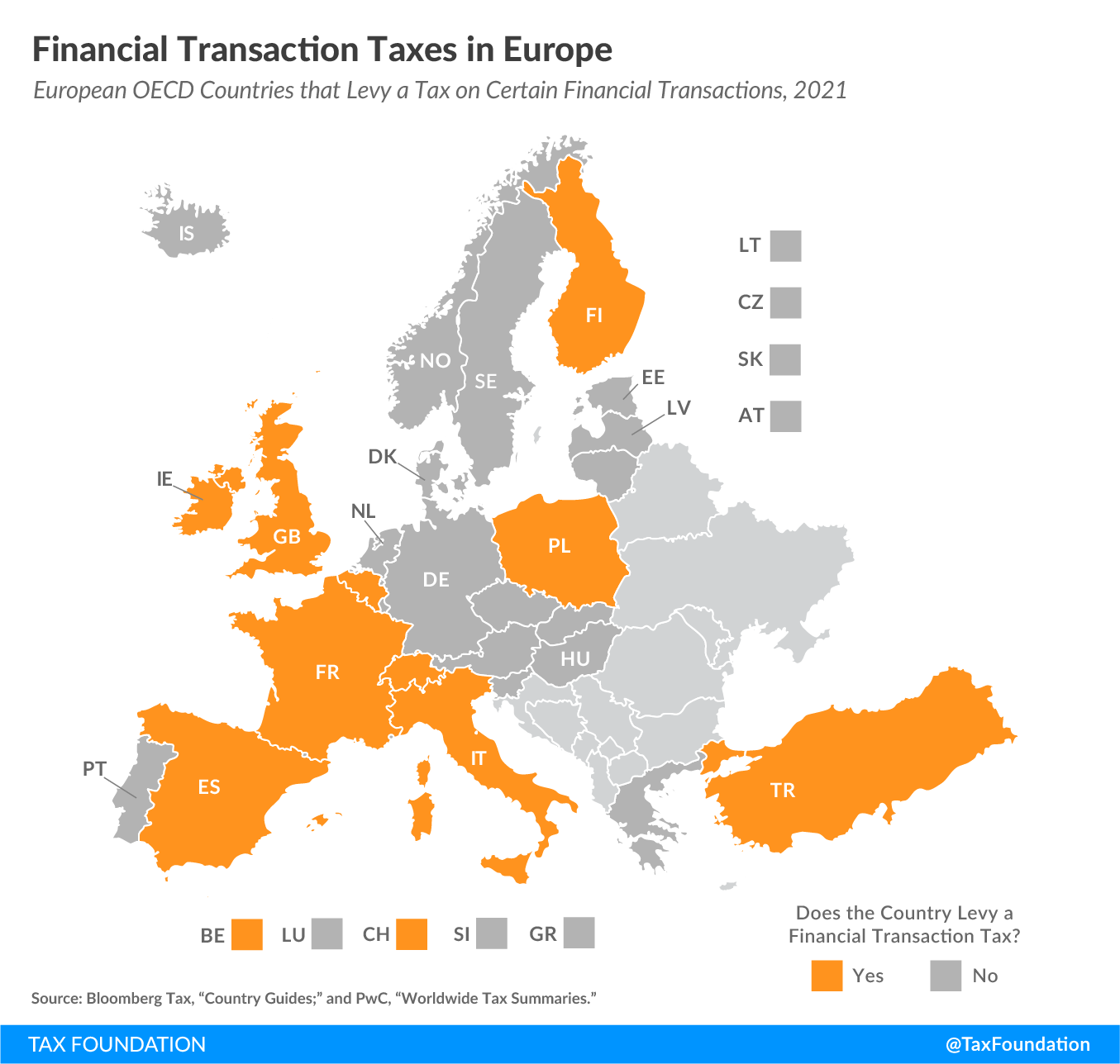 2021 financial transaction taxes in Europe, 2021 financial transaction tax Europe. European OECD countries impose a type of FTT.