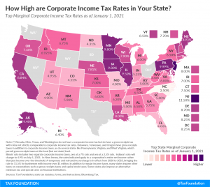 How High are Corporate Income Tax rates in Your State? 2021