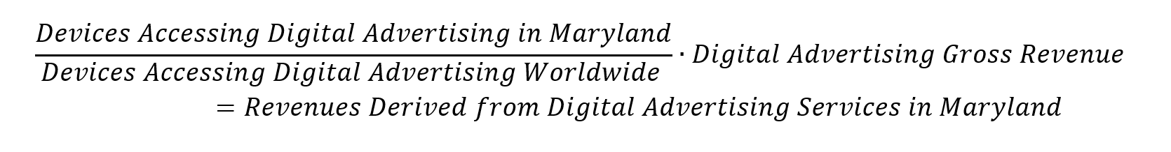 Learn more about the 2021 Maryland digital advertising tax regulations, revenue derived from digital advertising services in Maryland