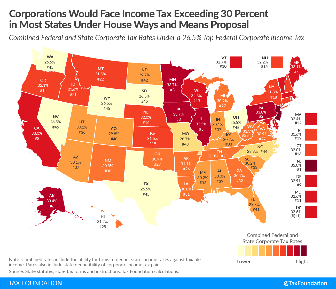 House Democrats Corporate Income Tax Rates by State | Tax Foundation
