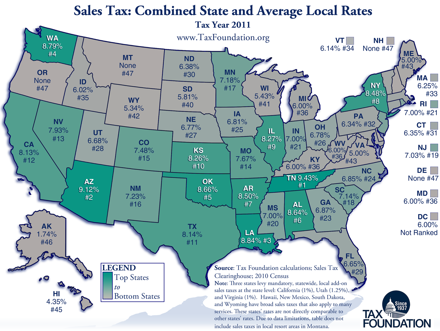 Pay Indiana Sales Tax >> Combined State and Local Sales Taxes: New Report | Tax Foundation