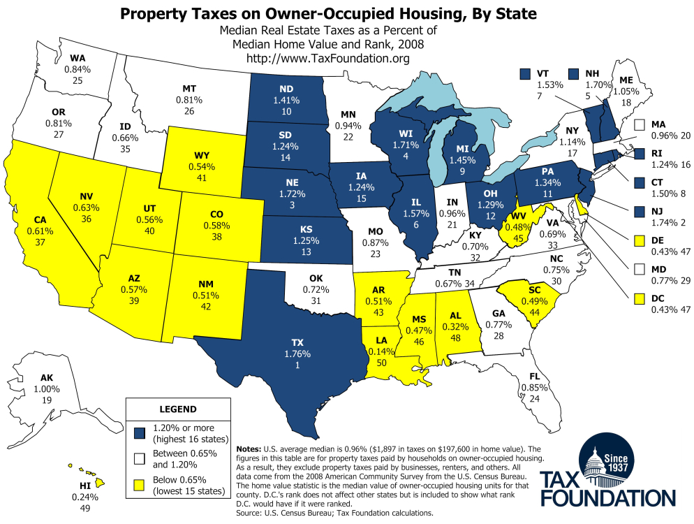 Property Tax Map Tax Foundation