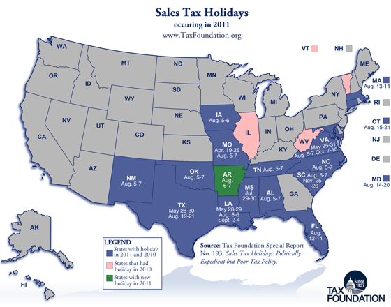 Sales Tax Holidays