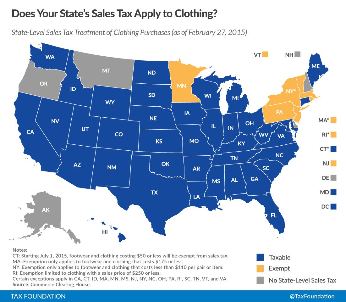 Rhode Island Clothing Tax