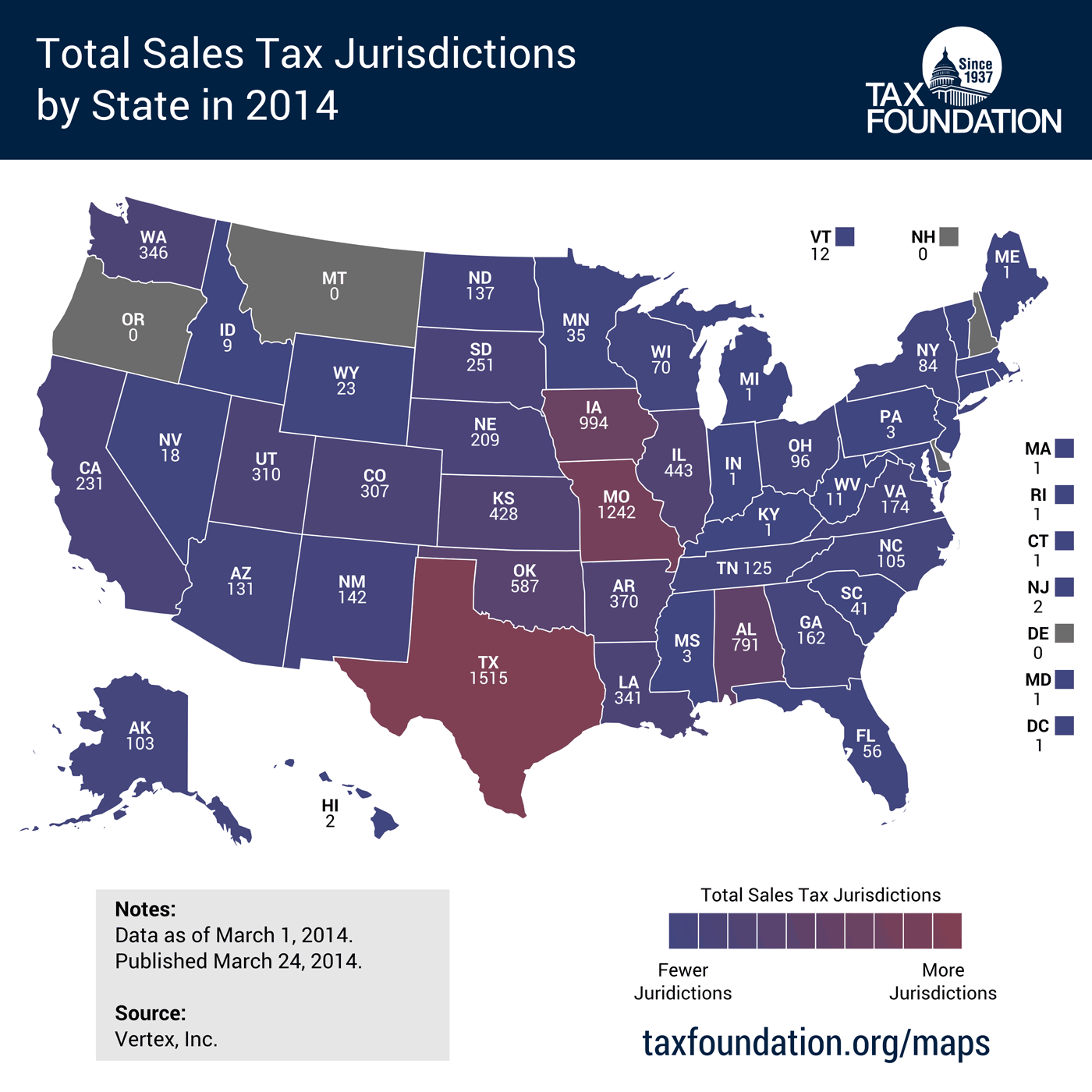 Georgia Gas Rates >> State Sales Tax Jurisdictions Approach 10,000 | Tax Foundation