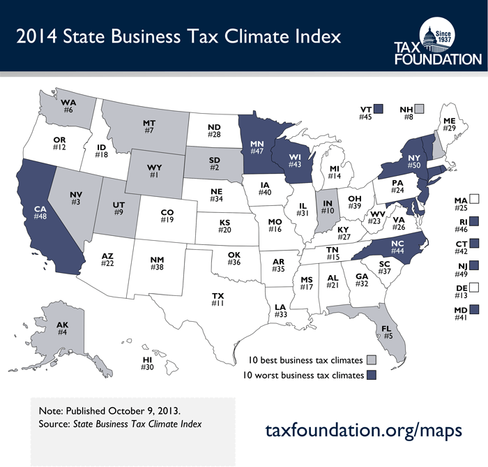 No State Income Tax States Map.Amac Small Business Solutions