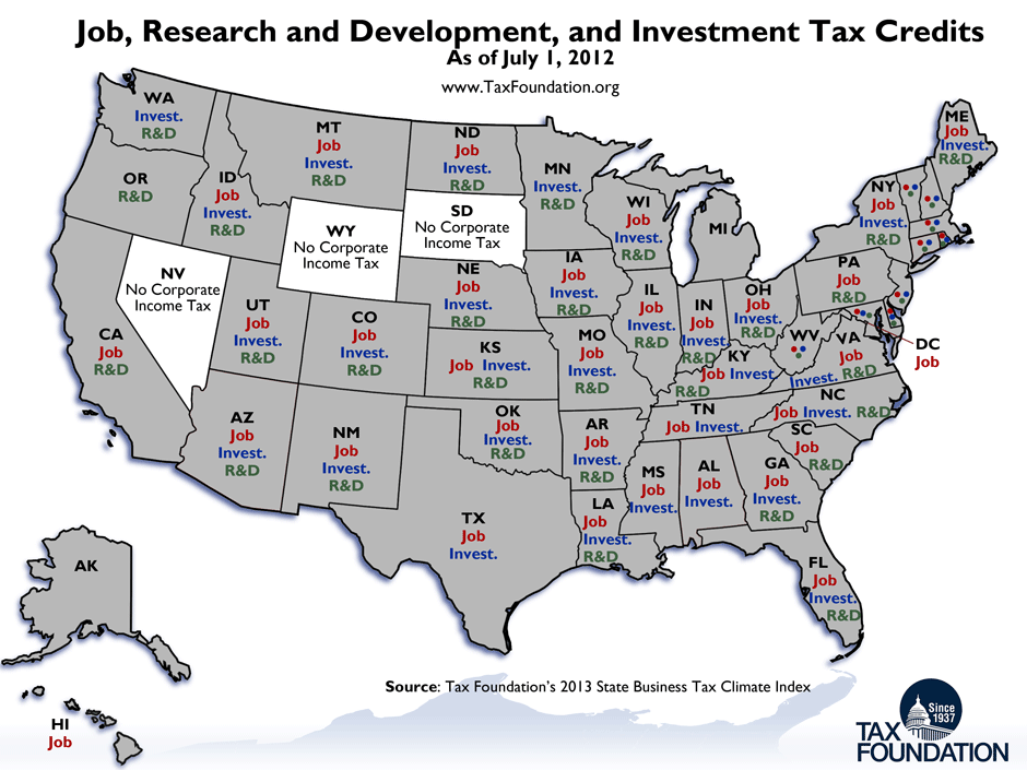 Monday Map State Tax Incentives For Business
