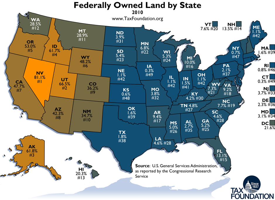 Federal Mineral Royalty Disbursements To States And The Effects Of - Us federal lands map