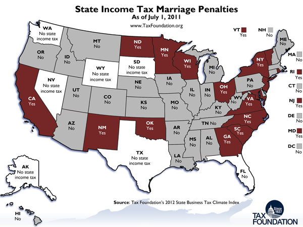 Marriage Tax Map