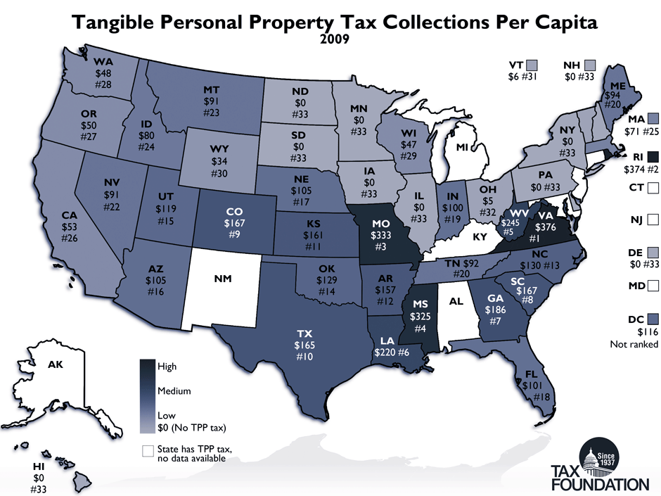 States Moving Away From Taxes On Tangible Personal Property Tax